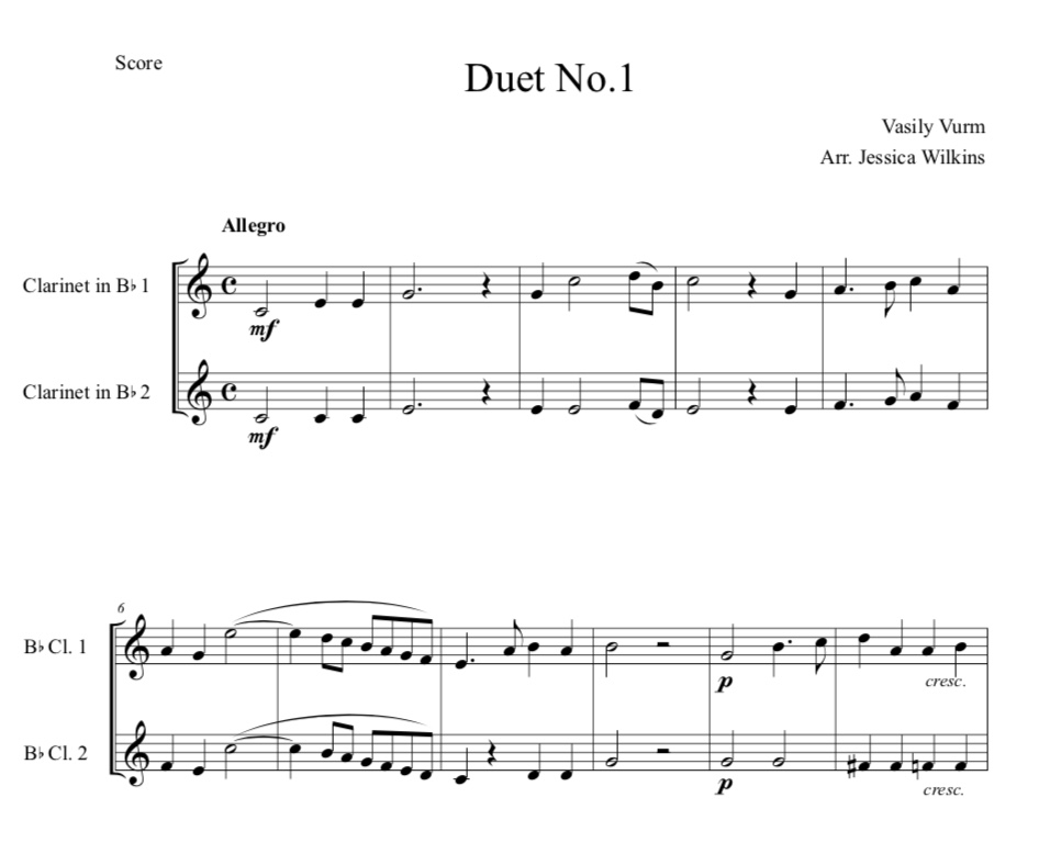 10 Easy Clarinet Duets (Digital Download)
