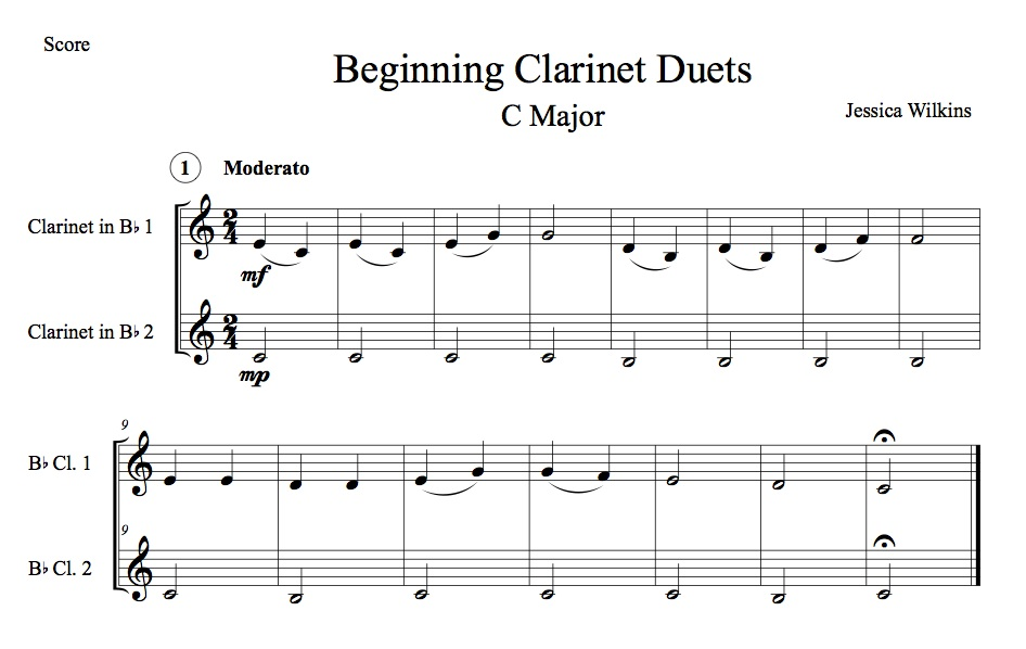 Beginning Clarinet Duets (Digital Download)