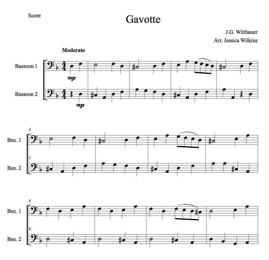 Beginner Bassoon Music